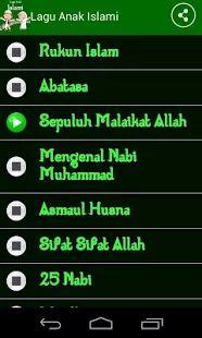 Lagu Anak Islami- gambar mini tangkapan layar