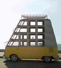 VW Bus quadruple decker
