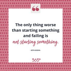 """#juststart   I used to say that my only fear was failure until I realised how many things I wasn't doing in case I """"failed"""" at them.  Don't miss out on opportunities to learn and grow. Don't let a fear of failure hold you back from doing anything.    Like if you are going to start something. ❤️   ➡️ www.threesixfiveplus.com ⬅️"""