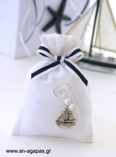 Μπομπονιέρα βάπτισης μεταλλικό καράβι – Favor Kit   ΑΝ ΑΓΑΠΑΣ