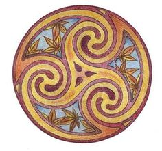 Triskele/Triskelion, an ancient Celtic trinity symbol of personal growth, human development and spiritual  expansion.