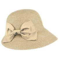Sombrero cloché de paja de papel con un lazo. Sombrero Cloche Mélange by Seeberger con una entrega rápida garantizada y 100 días de derecho de devolución.