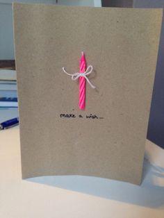 Homemade Birthday Cards, Diy Birthday, Happy Birthday Cards, Homemade Cards, Card Birthday, Creative Gift Wrapping, Creative Gifts, Cute Cards, Diy Cards