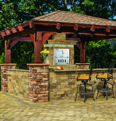 Create the ultimate outdoor kitchen with an outdoor pizza oven! Cambridge Pavingstones offer outdoor amenities such as pavilions that are great for entertaining guests outdoors!