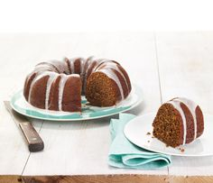 Iced Gingerbread Bundt Cake...with Chobani Greek Yogurt!