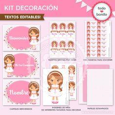 Comunión Niña Rosa: Kit decoración - Todo Bonito