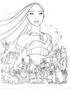 Disney Princess Pocahontas Coloring Pages Disney Coloring Pages Pocahontas at Getdrawings Tangled Coloring Pages, Disney Princess Coloring Pages, Disney Princess Colors, Mermaid Coloring Pages, Coloring Book Art, Disney Colors, Colouring, Coloring Sheets, Online Coloring Pages
