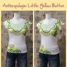Anthro Ruffle Sleeve Tee by Little Yellow Button Old school Anthro.  Great condition.  100% cotton knit.  **  Prices are as listed- Nonnegotiable.  I'm happy to bundle to save shipping costs, but there are no additional discounts.  No trades, paypal or condescending terms of endearment  ** Anthropologie Tops Tees - Short Sleeve