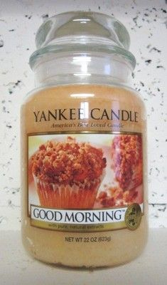 GOOD MORNING Yankee Candle 22 oz Jar | eBay