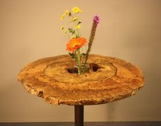 Hollow Log Bistro Table 1 by IsGoodWoodworksShop on Etsy