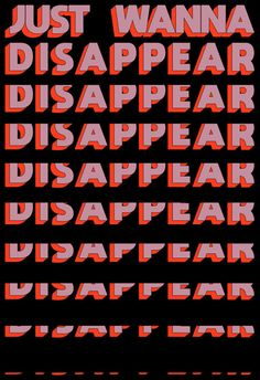 Just Wanna Disappear Art Print by Tyler Spangler - X-Small Words Wallpaper, Wallpaper Quotes, Wallpaper Backgrounds, Photo Wall Collage, Picture Wall, Buy Prints, Wall Prints, Aesthetic Iphone Wallpaper, Aesthetic Wallpapers