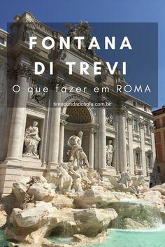 Fontana Di Trevi, um dos pontos turísticos clássicos de Roma. Descubra a capital da Itália, cidade icônica da Europa, com sua arquitetura clássica.