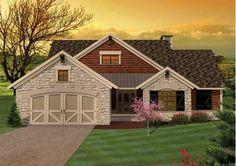 Plano y Fachada de Casa de Campo con 3 Dormitorios, Sótano y Garage   Proyectos de Casas