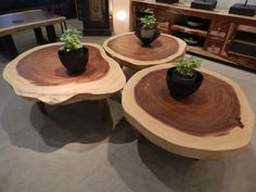 Pecky cypress coffee table Natural Creations by John Gabrielson