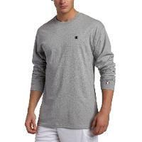 Champion Cotton Jersey Long-Sleeve Mens T Shirt T2228 - Oxford Gray Size XL