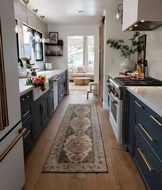 "Loloi Rugs on Instagram: ""Our latest obsession: this newly remodeled kitchen from @kismet_house. Excited to see the Evie rug for @magnolia by @joannagaines in the…"""