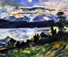 The Walchensee on Saint John's Eve - Lovis Corinth - 1920