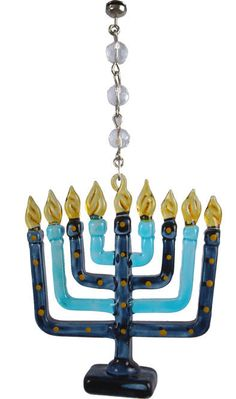 Crystal and Glass Menorah Magnets - Set of 3. Luv these <3