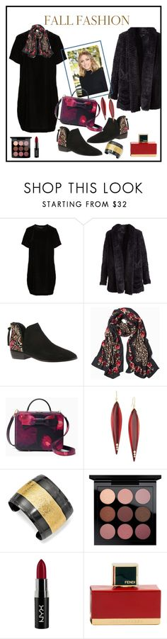 """""""Fall Fashion"""" by onesweetthing ❤ liked on Polyvore featuring Kenneth Cole, Kenneth Cole Reaction, White House Black Market, Kate Spade, Mark Davis, 1928, MAC Cosmetics, NYX and Fendi"""