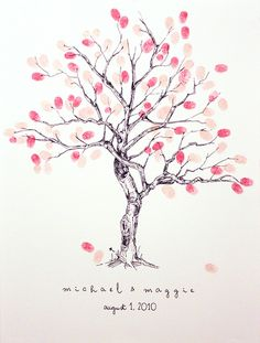 Fingerprint tree #wedding guests