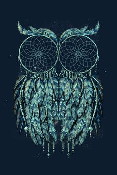 owl and dream catcher tattoo