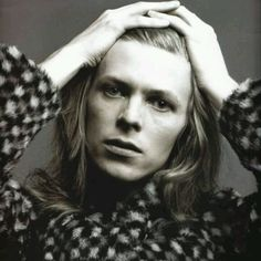 David Bowie from The Man Who Sold the World cover photo session.