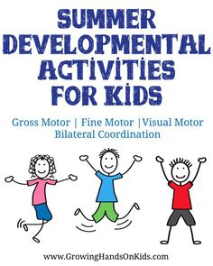 A huge list of fun summer developmental activities for kids (plus includes printables!)
