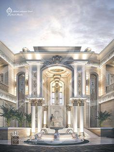 Lobby Interior, Mansion Interior, Interior Exterior, Dream Home Design, Modern House Design, My Dream Home, Paris Architecture, Modern Architecture House, Classic House Exterior