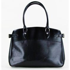 Louis Vuitton Black Epi Leather Passy GM Bag   Gently Used Louis Vuitton Handbags