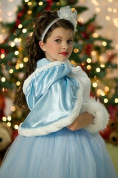 Hooded Christmas Capelet with Fur Trim Costume Accessory by Ella Dynae, $110.00 #holiday #snow #gift
