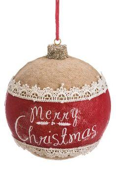 ALLSTATE 'Merry Christmas' Ball Ornament