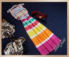 ELLOS Kolorowa Wesoła Przewiewna Sukienka 42/44