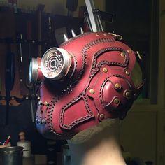 Cyberpunk, Larp, Steampunk Mask, Prop Making, Neo Victorian, Street Art Graffiti, Mask Design, Leather Craft, Bike Helmets