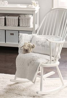 rocking chair, I wonder if I could get away with painting ours white and using it instead of a glider