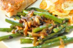 Green Beans With Caramelized Onions. These were a great side!!