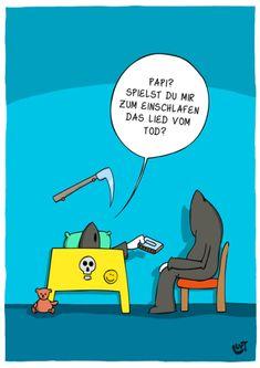 Thomas Luft, Cartoon, Humor, Lustig, EInschlafen