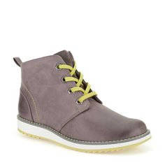 Fleet Top Inf in Grey Leather - Kids Boys from Clarks