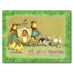 A Very Happy Easter to You / Vintage postcard