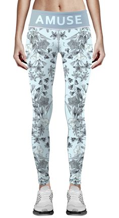 b1cc443cf2a2e Zipravs S/S Floral Flower Pattern Womens Sports Jogging Leggings Ladies  Girl Fitness Yoga Pants