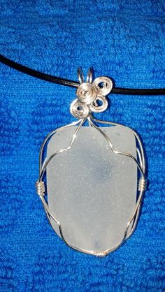 Sea Washed White Sea Glass Pendant Wrapped by SeaGlassInspiration, $25.00