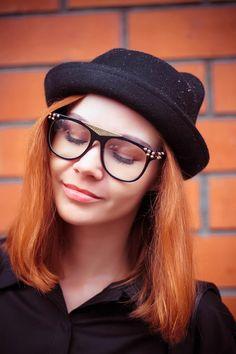 gvozdiShe: Fashion Spiked Retro Flat Top Clear Lens Wayfarer Glasses 8885