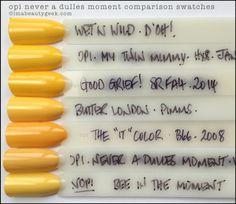 OPI Never A Dulles Moment comparison swatches Nail Polish Dupes, Gel Nail Polish Colors, Summer Nail Polish, Gelish Nails, Gel Color, Manicure, Nail Colour, Cnd, Nail Nail