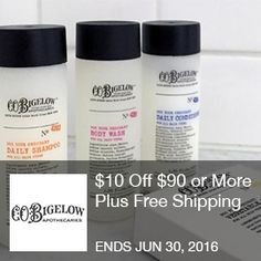 Bigelow Coupon - $ 10 off $90 or more plus free shipping  $10 Off $90 or More Plus Free Shipping (Valid Once Per Customer). Use Coupon Code From 6/1/16 Until 6/30/16.  Brought to you by http://www.imin.com and    http://www.imin.com/store-coupons/bigelow-chemists/