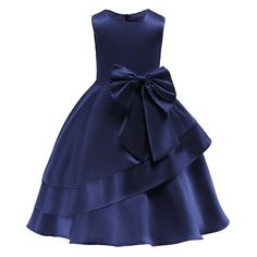 In Stock:Ship in 48 Hours Navy Blue Satin Flower Girl Dress With BowFloral Dress Evening Party Dress Sleeve Length(cm): Sleeveless Model Number: N/A Silhouette: Ball Gown Material: Polyester,Cotton Style: European and American Style Dresses Length: M Girls Dresses Online, Girls Formal Dresses, Little Girl Dresses, Blue Dresses, Girls Party Dress, Flower Girl Dresses Burgundy, Elegant Dresses, Dressy Dresses, Princess Ball Gowns