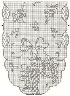Mary Heklani Radovi I Sheme Crochet Patterns Filet, Doily Patterns, Crochet Motif, Crochet Designs, Crochet Doilies, Crochet Yarn, Cross Stitch Designs, Cross Stitch Patterns, Fillet Crochet