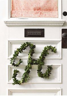 boxwood monogram, House and Home