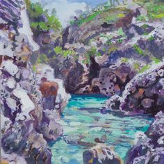 Framed Oil Painting -The Mani, Greece. by LKB23 on Etsy