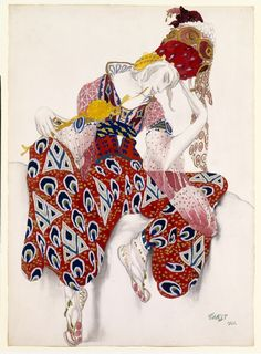 Leon Bakst costume for the Ballet Russe. ~ETS