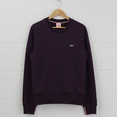 Lacoste Live Crew Neck Tipped Cuff Sweatshirt (Ganache) #lacostelive #lacoste #sweatshirt #menswear