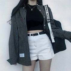 Korean fashion has been trending for many years, and it's for good reasons. With Korean's approach to outfits, accessories, and shoes, it is no doubt how many people search for Korean fashion trends for great looks. Mode Outfits, Grunge Outfits, Grunge Fashion, Casual Outfits, Girl Outfits, Fashion Outfits, Fashion Ideas, 90s Fashion, Fall Fashion